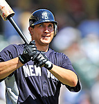 8 March 2011: New York Yankees' outfielder Jordan Parraz awaits his turn in the batting cage prior to a Spring Training game against the Atlanta Braves at Champion Park in Orlando, Florida. The Yankees edged out the Braves 5-4 in Grapefruit League action. Mandatory Credit: Ed Wolfstein Photo