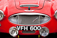 Austin Healey 3000 car at classic car rally at Brize Norton in Oxfordshire, UK