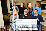 Tralee Darkness into Light presents a cheque for &euro;41,198.97 to Pieta House in the Brogue Inn<br /> Seated l to r: Marilyn O&rsquo;Shea, Martin Brosnan and Aidan O&rsquo;Sullivan.<br /> Back l to r:  Ann Leahy O&rsquo;Shea, Con O&rsquo;Connor, Stephanie and Patricia Turner.