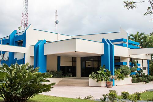 Uno de los edificios de oficinas administrativas.