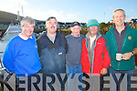 Ref Jim O'Gorman..Cahersiveen & Valentia Skippers in jovial mood as they get ready to bring 66 anglers out fishing in the Findlator Cup, pictured here l-r; Des O'Connell, Adrian Handley, Hugh Maguire, Derry Fitzgerald & Andrew Quigley. ....Contact Johnny Griffin for more information 0872523731
