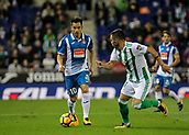 30th October 2017, Cornella-El Prat, Cornella de Llobregat, Barcelona, Spain; La Liga football, Espanyol versus Real Betis; Jurado of Espanyol drives forward