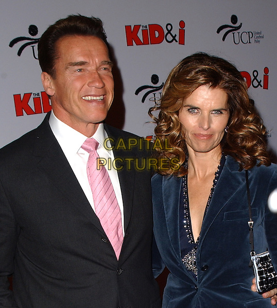 "ARNOLD SCHWARZENEGGER & MARIA SHRIVER.The L.A. Premiere of ""The Kid & I"" held at The Grauman's Chinese Theatre in Hollywood, California  .November 28th, 2005.Ref: DVS.headshot portrait married husband wife.www.capitalpictures.com.sales@capitalpictures.com.Supplied By Capital PIctures"