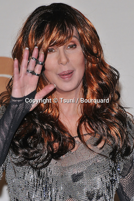 Cher  in the press room at 50th Annual Grammy Award at the Staples Center In Los Angeles.<br /> <br /> headshot<br /> wawing