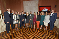 New York City, NY - MAY 23: (L-R) Alexi Lalas, Studio Analyst,Grant Wahl, Correspondent-at-Large, Kyndra de St. Aubin, Match Analyst, Rob Stone, Lead Studio Analyst, JP Dellacamera, Lead WWC Paly-by-Play Announcer, Stu Holden, Lead GC Match Analyst, Aaron West, FIFA WWC NOW Host, Anne-Claire Legendre, Consul General of France in New York, David Neal, Executive Producer, FIFA World Cup on Fox Sports, Aly Wagner, Lead WWC Match Analyst, Danielle Slaton, Match Analyst, Leslie Osborne, Studio Analyst, Christina Unkel, Rules Analyst and John Strong, Lead GC Play-by-Play Announcer attend the Fox Sports FIFA Women's World Cup Send-off at the Consulate General of France in New York City. (Photo by Anthony Behar/Fox Sports/PictureGroup)