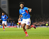 Ellis Harrison of Portsmouth scores with a header to make the score 2-1 and celebrates  during Portsmouth vs Rotherham United, Sky Bet EFL League 1 Football at Fratton Park on 26th November 2019