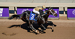 November 1, 2019: Tap Back, ridden by Victor Espinoza, wins the Golden State Juvenile on Breeders' Cup Championship Friday at Santa Anita Park in Arcadia, California on November 1, 2019. John Voorhees/Eclipse Sportswire/Breeders' Cup/CSM