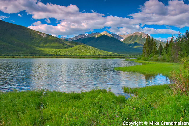 The Sundance Range and Vermillion Lakes<br />Banff National Park<br />Alberta<br />Canada