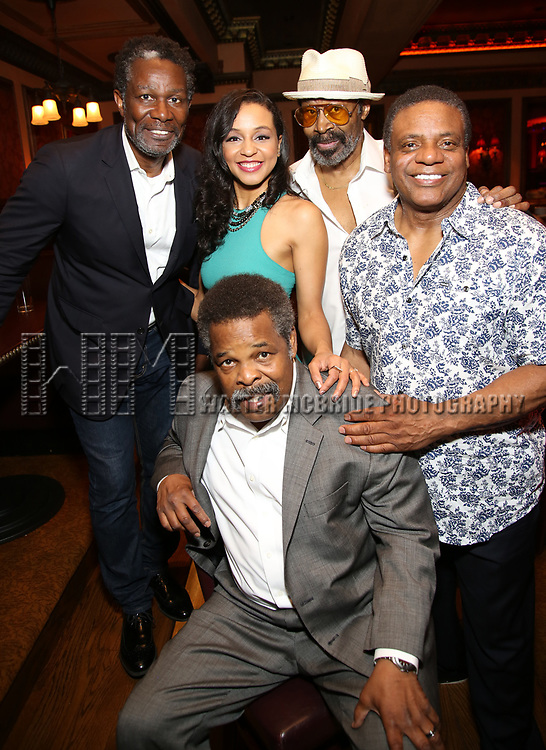 'Jitney' stars John Douglas Thompson, Carra Patterson, Ray Athony Thomas, Anthony Chisholm, and Harvy Blanks attend the 2017 New York Drama Critics' Circle Awards Reception at Feinstein's / 54 Below on 5/18/2017 in New York City.
