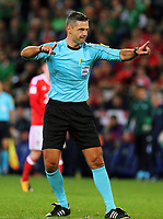 Referee Damin Skomina during the FIFA World Cup Qualifier Group D match between Wales and Republic of Ireland at The Cardiff City Stadium, Wales, UK. Monday 09 October 2017