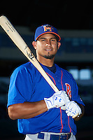 Midland RockHounds shortstop Franklin Barreto (10) poses for a photo before a game against the San Antonio Missions on April 22, 2016 at Nelson W. Wolff Municipal Stadium in San Antonio, Texas.  San Antonio defeated Midland 8-4.  (Mike Janes/Four Seam Images)