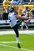 Seattle Seahawks punter Jon Ryan (9) during a National Football League game against the Green Bay Packers on September 10, 2017 at Lambeau Field in Green Bay, Wisconsin. Green Bay defeated Seattle 17-9. (Brad Krause/Krause Sports Photography)