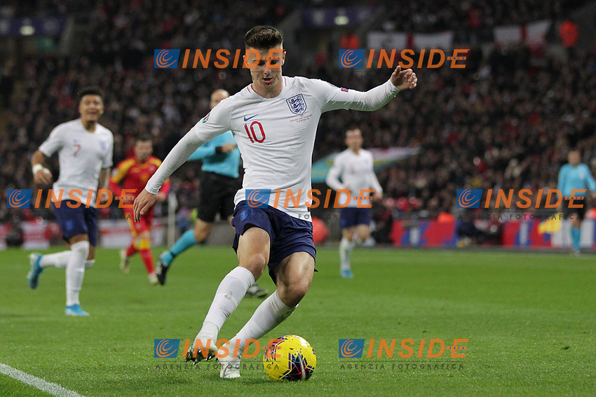 Mason Mount of England during the UEFA Euro 2020 Qualifying Group A match between England and Montenegro at Wembley Stadium on November 14th 2019 in London, England. (Photo by Matt Bradshaw/phcimages.com)<br /> Foto PHC Images / Insidefoto <br /> ITALY ONLY