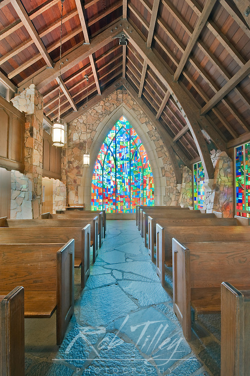 USA, GA, Pine Mountain, Callaway Gardens, Ida Cason Callaway Memorial Chapel