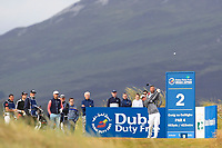 Sam Horsfield (ENG) on the 2nd tee during Round 1 of the Dubai Duty Free Irish Open at Ballyliffin Golf Club, Donegal on Thursday 5th July 2018.<br /> Picture:  Thos Caffrey / Golffile