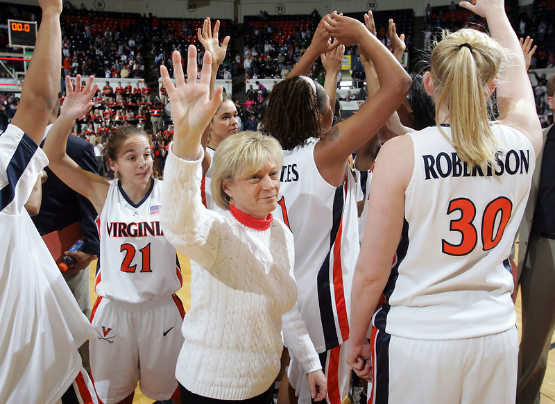 Virginia Cavaliers head basketball coach Debbie Ryan at the University of Virginia in Charlottesville, VA. Photo/Andrew Shurtleff