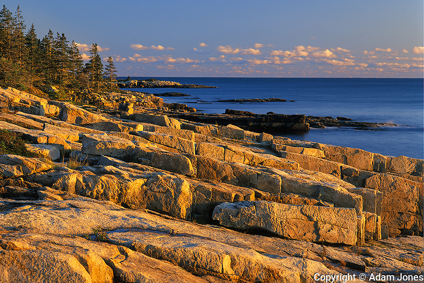 First light on rugged coastline, Schoodic Peninsula, Acadia National Park, Maine