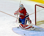 10 February 2007: Montreal Canadiens goaltender David Aebischer (30) of Switzerland makes a save against the Ottawa Senators at the Bell Centre in Montreal, Canada. The Senators defeated the Canadiens 5-3 in front of a hometown sellout crowd of 21,273.