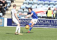 Ian McGrath shooting in the SPFL Ladbrokes Championship Play Off semi final match between Queen of the South and Montrose at Palmerston Park, Dumfries on  11.5.19.