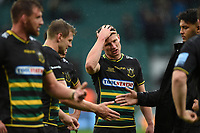 Fraser Dingwall of Northampton Saints looks dejected after the match. Gallagher Premiership match, between Northampton Saints and Leicester Tigers on October 6, 2018 at Twickenham Stadium in London, England. Photo by: Patrick Khachfe / JMP