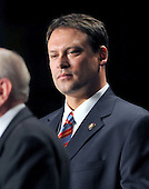 Washington, D.C. - February 5, 2009 -- United States Representative Heath Shuler (Democrat of North Carolina) listens to the introductions at the National Prayer Breakfast in Washington, D.C. on Thursday, February 5, 2009. Shuler, who was once a first round draft choice as a quarterback for the Washington Redskins of the National Football League (NFL), is in his second term in Congress.  United States President Barack Obama later made remarks to the gathering .Credit: Ron Sachs / Pool via CNP