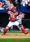 6 March 2010: Washington Nationals' catcher Wil Nieves in action during a Spring Training game against the New York Mets at Space Coast Stadium in Viera, Florida. The Mets defeated the Nationals 14-6 in Grapefruit League action. Mandatory Credit: Ed Wolfstein Photo