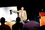 """Kenneth Brecher gives a presentation, """"The Ambiguous Corner Cube and Friends"""" at G4G9, the ninth Gathering for Gardner. G4G is a five-day conference for math and puzzle enthusiasts in honor of Martin Gardner Atlanta, Georgia, March 28, 2010"""