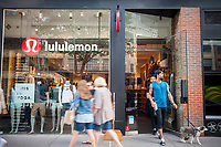 A Lululemon Athletica store in the trendy Meatpacking District in New York on Thursday, June 1, 2017. Lululemon is scheduled to release first-quarter earnings after the bell.  (© Richard B. Levine)