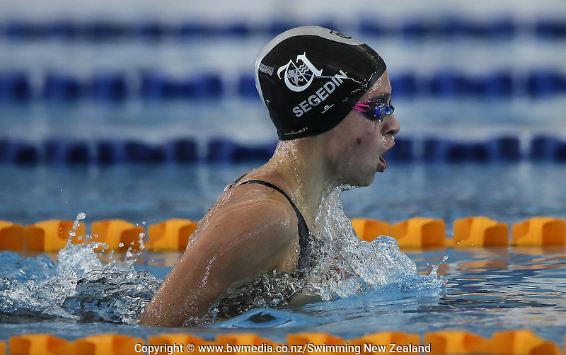Action during the New Zealand Junior Swimming Championships, Owen G Glenn National Aquatic Centre, Auckland New Zealand. Saturday 20 February 2016 Photo: Simon Watts/www.bwmedia.co.nz