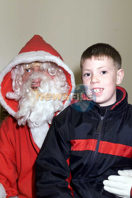 Emmet Carolan, The Orchards with Santa in the Ardee Day Care Centre..Picture: Paul Mohan/Newsfile