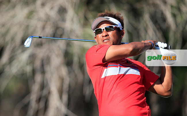 Thongchai JAIDEE (THA) during round 2 of the Turkish Airlines Open presented by the Ministry of Tourism and Culture, hosted at the The Montgomerie Maxx Royal,Antalya,Turkey.<br /> Picture: Fran Caffrey www.golffile.ie