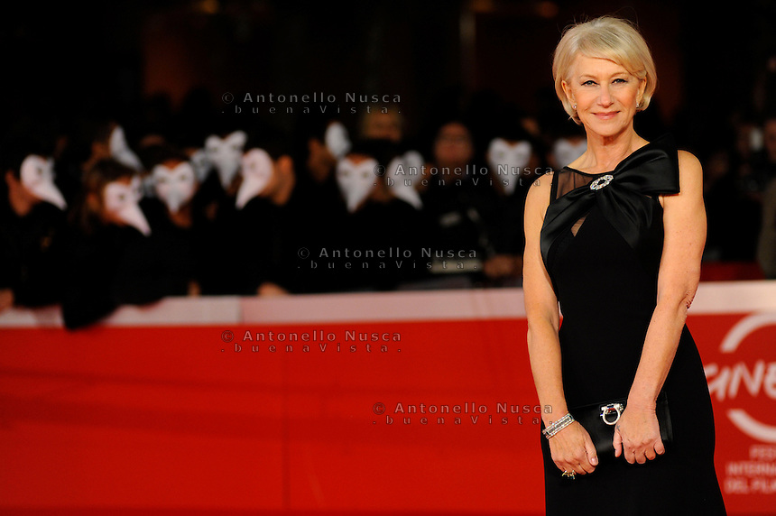 Roma, 18 Ottobre, 2009. L'attrice Helen Mirren durante il red carper per il suo ultimo film &quot;The last station&quot;.<br /> Helen Mirren at the red carpet at the Rome's film festival