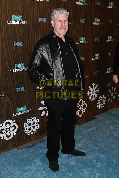 RON PEARLMAN.Fox Winter All Star  Party held at Villa Sorisso, Pasadena, California, USA..January 11th, 2009.full length black trousers leather jacket hands in pockets.CAP/ADM/TC.©T. Conrad/AdMedia/Capital Pictures.