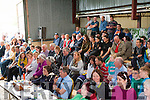 Spectators at the Top of Coom shearing on Sunday.