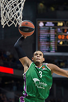 Unicaja Ray McCallum during Turkish Airlines Euroleague match between Real Madrid and Unicaja at Wizink Center in Madrid, Spain. November 16, 2017. (ALTERPHOTOS/Borja B.Hojas) /NortePHoto.com