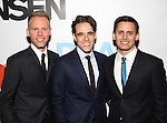 Justin Paul, Steven Levenson and Benj Pasek attends the Broadway Opening Night Performance of 'Dear Evan Hansen'  at The Music Box Theatre on December 1, 2016 in New York City.