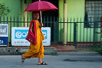 Buddhist Monk Street scene near Kandy