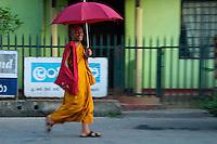 Buddhist Monk Street scene near Kandy