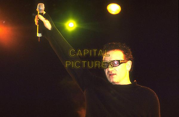 U2 - BONO.Ref:9438.in concert, sunglasses, shades, half length, half-length.www.capitalpictures.com.sales@capitalpictures.com.© Capital Pictures.