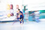 Mannheim, Germany, November 16: During the OB-tournament preparation indoor hockey match between Nuernberger HTC and Mannheimer HC on November 16, 2019 at TSV Mannheim in Mannheim, Germany. (Copyright Dirk Markgraf / 265-images.com) ***