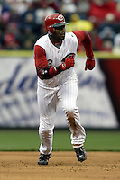 03 April 2006: Cincinnati Red's Ken Griffey Jr. runs the bases against the Chicago Cubs during the Reds' home opener at Great American Ballpark in Cincinnati, Ohio.<br />