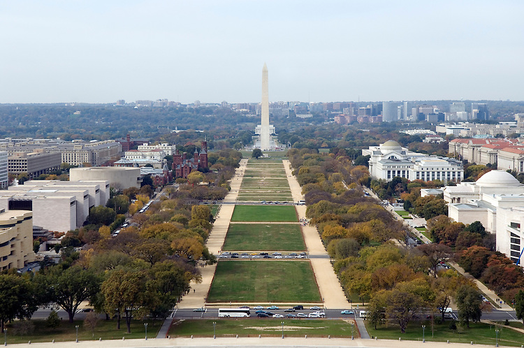 National Mall as seen from the top of the Capitol dome.