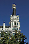 Tower of 'Me by Melia' Reina Victoria hotel,  Barrio de las Letras, Madrid city centre, Spain