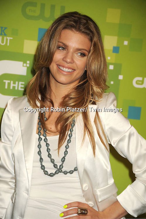 AnnaLynne McCord in Alice and Olivia skirt attending The CW 2011 Upfront on May 19, 2011 at Jazz at Lincoln Center in New York City.