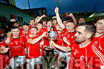 East Kerry players celebrate after the Kerry County Senior Club Football Championship Final match between East Kerry and Dr. Crokes at Austin Stack Park in Tralee, Kerry.