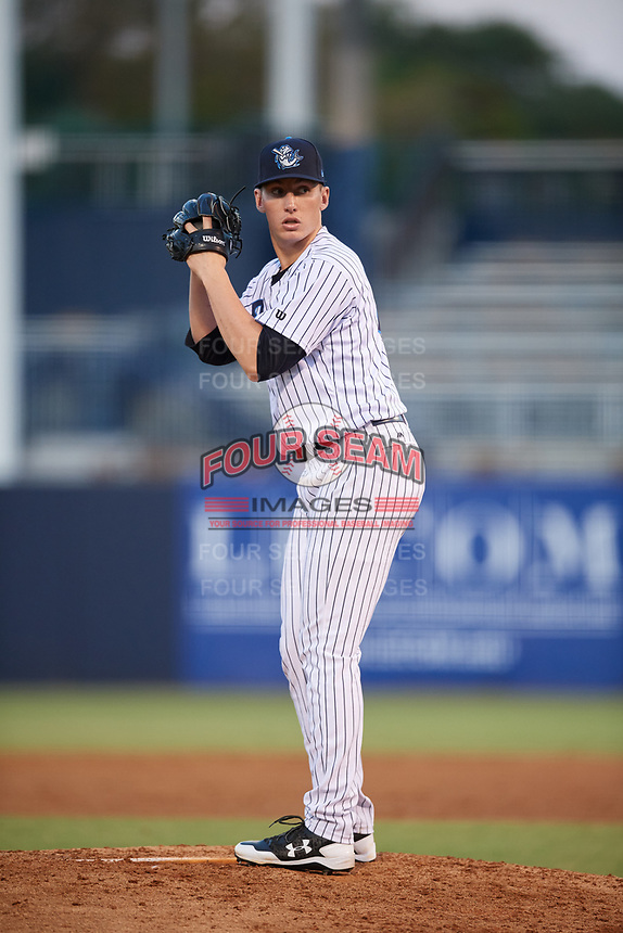 Tampa Tarpons starting pitcher Trevor Stephan (32) gets ready to deliver a pitch during a game against the Daytona Tortugas on April 18, 2018 at George M. Steinbrenner Field in Tampa, Florida.  Tampa defeated Daytona 12-0.  (Mike Janes/Four Seam Images)