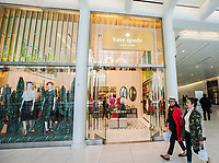The Kate Spade store in the World Trade Center Transportation Hub, known as the Oculus, on Tuesday, May 9, 2017. The leather goods retailer Coach has acquired Kate Spade & Co.for $2.4 billion. (© Richard B. Levine)