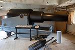 Landguard Fort, Felixstowe, Suffolk, England, UK 38 ton gun rifled muzzle loading 1870-1909