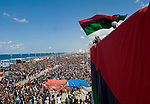 BENGHAZI, LIBYA..DEMONSTRATIONS CONTINUE TO URGE THE INTERNATIONAL COMMUNITY TO IMPOSE A NO FLY ZONE AND RECOGNIZE THE REVOLUTIONARY COUNCIL AS THE LEGITIMATE GOVERNMENT OF LIBYA..FRIDAY PRAYER TIME GATHERING..11-3-2011 PIC BY IAN MCILGORM