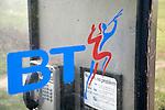 British Telecom rural phone box and BT logo
